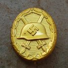 WWII THE GERMAN BADGE Wound Badge (Gold)Third Reich. Nazi.