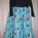 Ariel 3 tiered flannel and denim dress