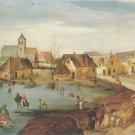 Jacob Grimmer - WINTER VILLAGE LANDSCAPE