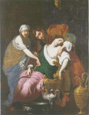 Francesco Furini - RACHEL GIVING BIRTH TO JOSEPH