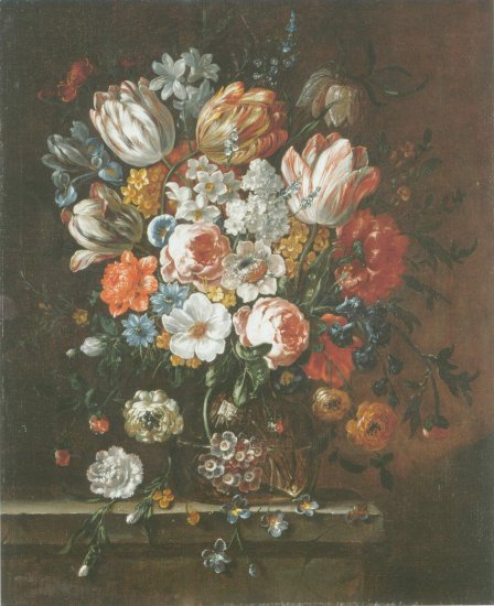 Peter Frans Casteels - ROSE, PARROT TULIPS, NARCISSSI, IRIS,