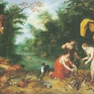 Jan Breughel II - DIANA AND HER NYMPHS INSPECTING THEIR CATCH AFTER