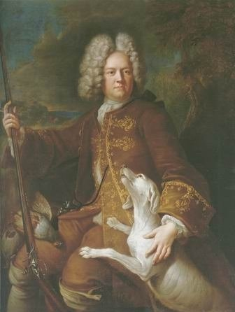 alexandre Francois Desportes - HUNTMAN WITH A RIFLE AND DOG