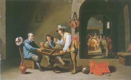 Cornelis Mahu - BACKGAMMON PLAYERS