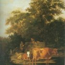 Adriaen Van De Velde - WOODED LANDSCAPE WITH HERDSMEN RESTING AND COWS WA
