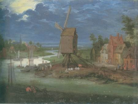 Pieter Gysels - LANDING STAGE AND WINDMILL