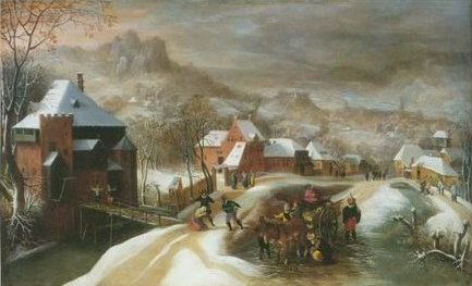Jacob Grimmer - SOLDIERS IN A VILLAGE