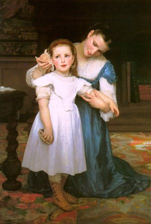 Adolph William Bouguereau - THE SHELL