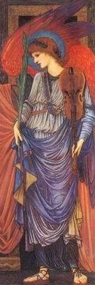 Sir Edward Coley Burne-Jones - A MUSICAL ANGEL