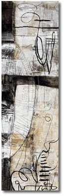 IRON ON PAPER , BIG ABSTRACT OIL PAINTING FOR HOME