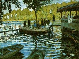 LA GRENOUILLERE,1869 - Claude Monet paintings