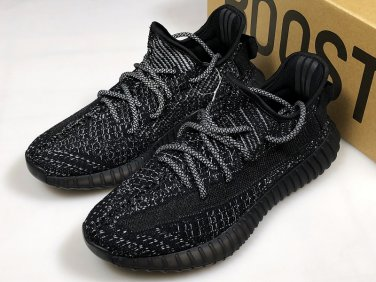 new arrival ceaa3 04241 Men's/Women's/Youth Yeezy Boost 350 V2 Static Running Shoes Black  Reflective Shoe Surface