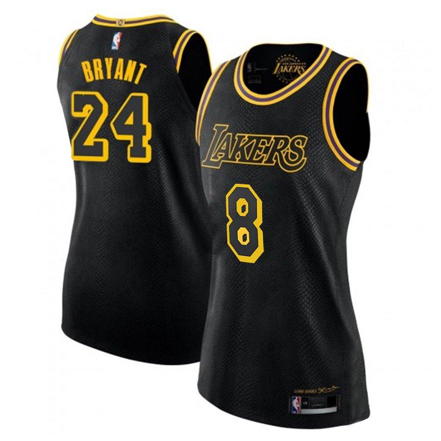 Women's #8 #24 Kobe Bryant Los Angeles Lakers Black Mamba ...