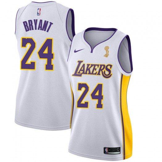 Women's Kobe Bryant Los Angeles Lakers White Association ...