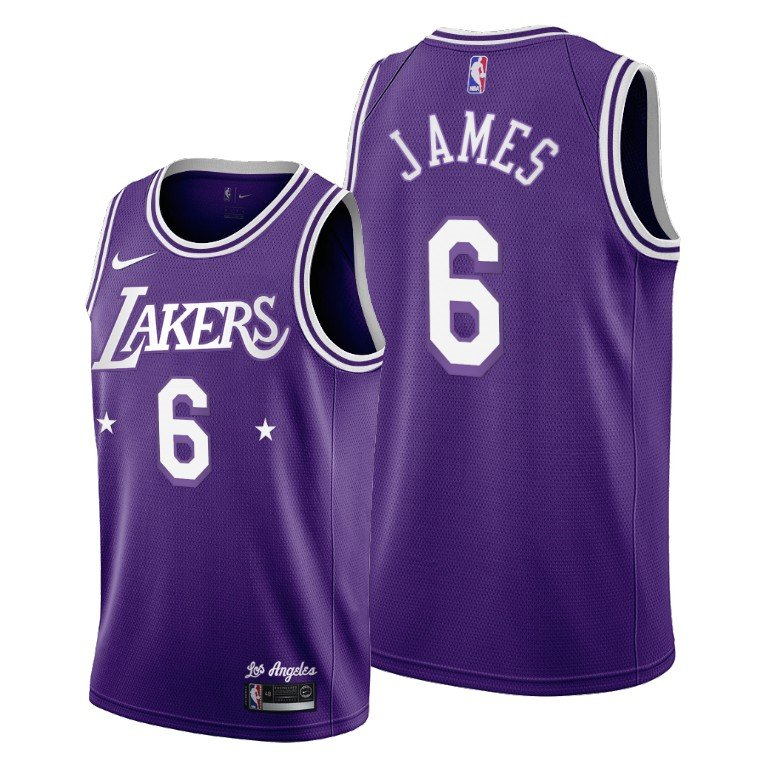 Men Los Angeles Lakers Lebron James 6 Jersey Change Number ...