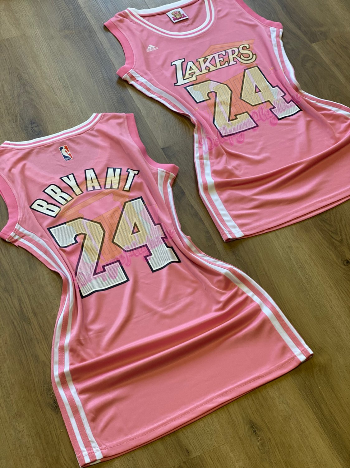 Women's Los Angeles Lakers Kobe Bryant Pink Fitted Jersey Dress ...