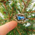Miniature birdnest with titmouse bird ,dollhouse miniature bird,dollhouse accessories