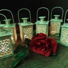 Set of 6 White Mini Wedding Lanterns