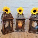 Set of 10 Bronze Rustic Moroccan Lanterns/Sunflower wedding