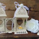 Set of 10 Rustic White Wedding Lanterns