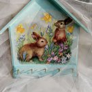 Decoupage Key House Hanger Easter Gift Idea