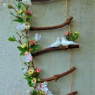 Decorative Rope Ladder with Flowers and Doves/Wedding Decoration