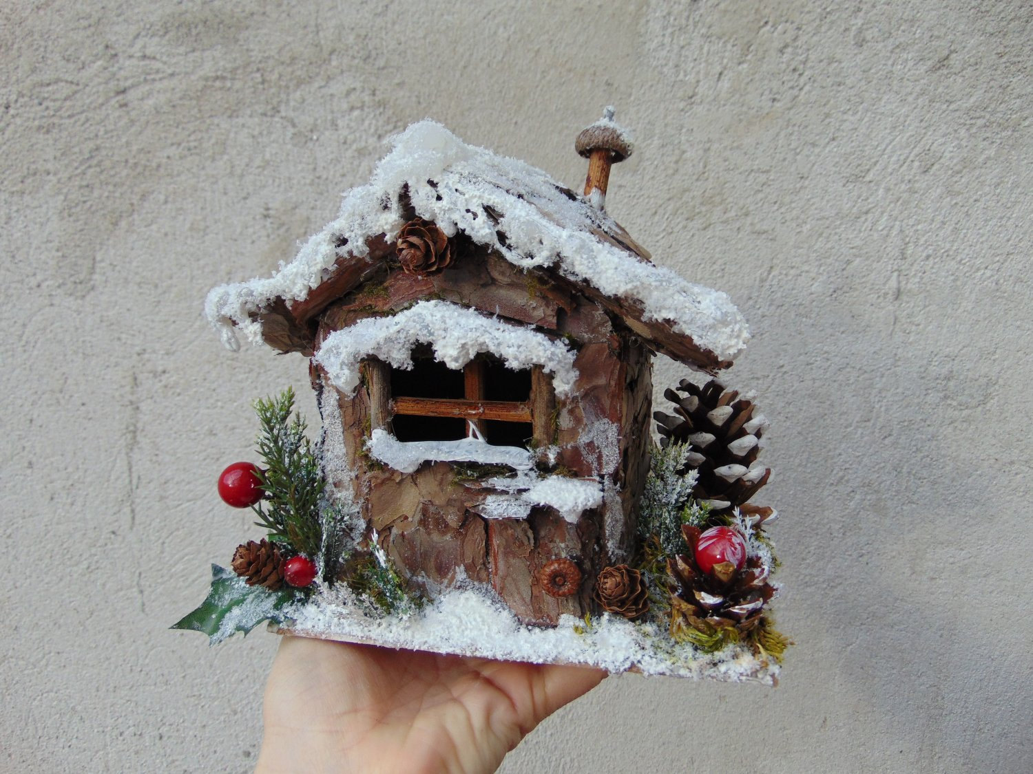 Christmas fairy snowy cottage