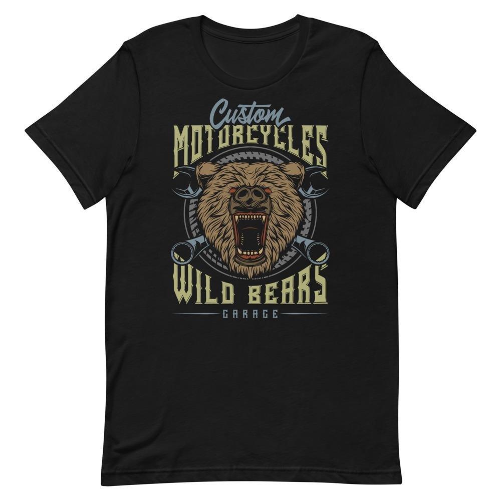 Custom Garage Motorcycles Wild Bear Vintage T Shirt