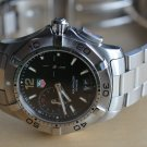 TAG HEUER AQUARACER MEN'S DIVE WATCH WAF111Z w/Alarm
