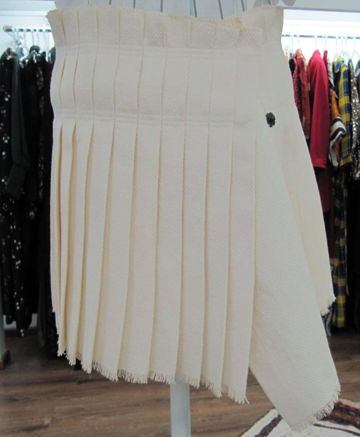 ISABEL-MARANT-Pleated-linen-wrap-skirt-size-36