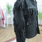 CHANEL Jacket with fringe from artificial leather size S