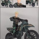 COLLECTIBLE TOY LANARD CORPS CHAP MEI FIGURINE WITH MOTORBIKE