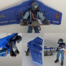 corps LANARD CHAP MEI  action figure soldier with highly sought after lanard chap mei glider vehicle
