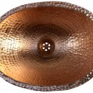 Luxury Traditional Polished Golden Copper Bathroom Small Oval Sink Remodeling