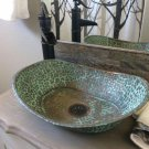Green Patina Aged Oxidized Copper Bathroom Sink Toilet Bathtub Design Lavatory
