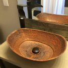 Rustic Vintage Industrial Copper Above Counter Bathroom Bathtub Sink Renovation
