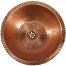 Polished Bright Natural Pure Copper Bathroom Washbasin Sink House Remodel Decor