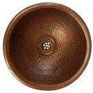 Hammered Bronze Rustic Bathroom Copper Dome Sink Kitchen Construction Alteration