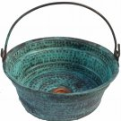Green Patina Oxidized Vessel Copper Bathroom Bucket Sink House Remodel