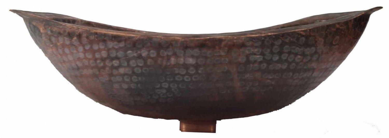 Ultra Small Rustic Industrial Flame Burned Copper Bathroom Sink Bathtub Lavatory