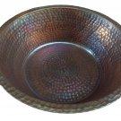 Bronze Antique Patina Copper Foot Bath Wash Massage Spa Therapy Pedicure Bowls