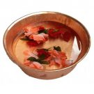 Polished Copper Foot Rub Soaking Bath Wash Massage Spa Therapy Pedicure Bowl