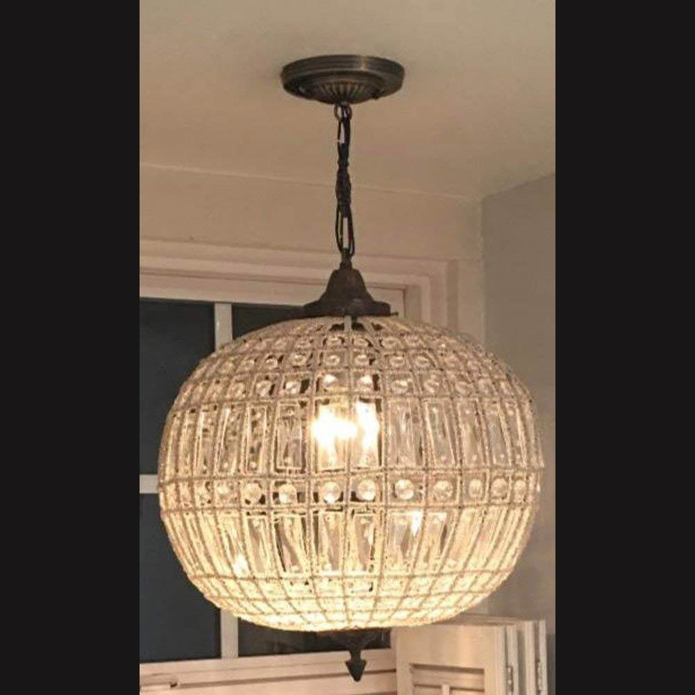 "Antique Replica French Empire Globe Orbit Basket Crystal Ceiling Chandelier 16""D"