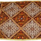 Table Cloth Multicolor Brown Checkered Printed Designs Ramadan Eid Wall Tapestry
