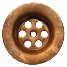 """Removable Natural Copper Sink Drain Cover Strainer Standard 1.50"""" Drainage Holes"""