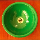 lightweight Hand Textured Green Color Dome Bathroom Sink Toilet Lavatory Bowl