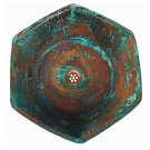 Green Patina Aged Oxidized Pure Copper Hexagonal Bathroom Sink Remodel
