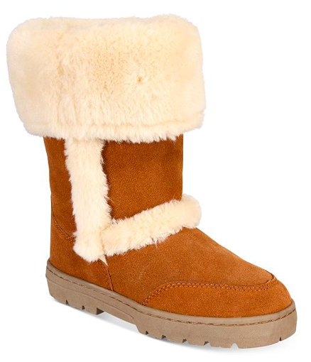 Style & Co. Womens Witty Almond Toe Ankle Cold Weather Boots, Chestnut