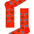 Happy Socks Unisex Cry Baby Pattern Combed Cotton Crew Socks, Size 9-11