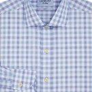 Ledbury Men's Light Ardmore Plaid Shirt Slim, Blue